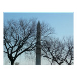Washington Monument in Winter I Travel Photography Poster