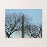 Washington Monument in Winter I Travel Photography Puzzle