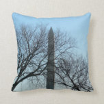 Washington Monument in Winter I Travel Photography Throw Pillow