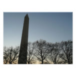 Washington Monument in Winter II DC Travel Photo
