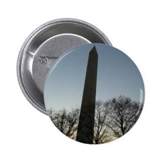 Washington Monument in Winter II DC Travel Photo Pinback Button