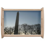 Washington Monument in Winter II DC Travel Photo Serving Tray