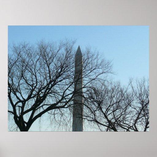 Washington Monument in Winter Print