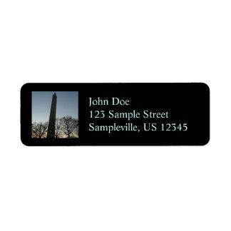 Washington Monument in Winter Return Address Label