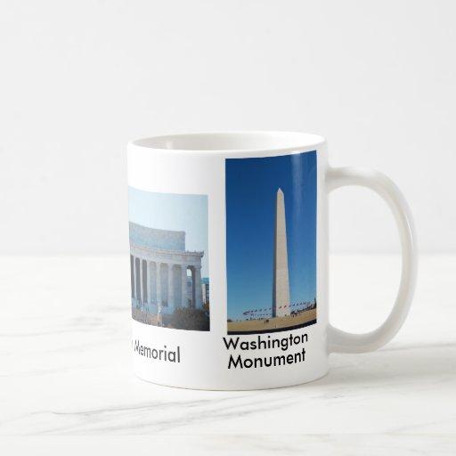 Washington Monument, Lincoln & Jefferson Memorials Coffee Mugs