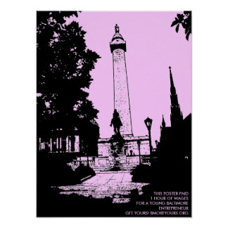 Washington Monument Pink! Posters