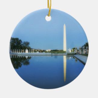 Washington Monument, Reflecting Pool, Washington Ceramic Ornament