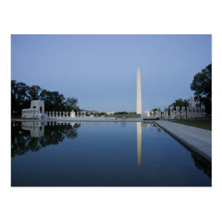 Washington Monument, Reflecting Pool, Washington Postcard