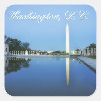 Washington Monument Reflecting Pool Washington Square Sticker