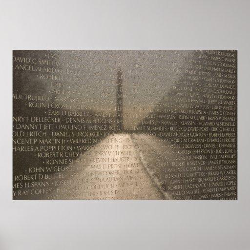 Washington Monument Reflection Poster
