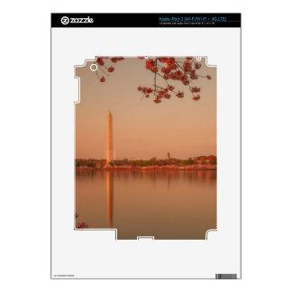 Washington Monument Sakura at sunset. Skin For iPad 3