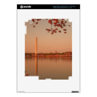 Washington Monument Sakura at sunset. Skins For iPad 3