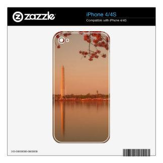 Washington Monument Sakura at sunset. Skins For iPhone 4