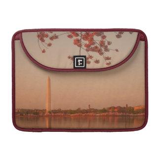 Washington Monument Sakura at sunset. Sleeves For MacBook Pro