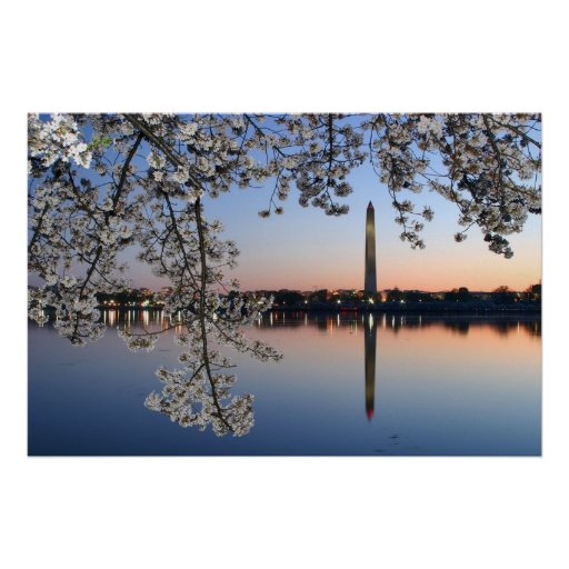 Washington Monument Spring Morning Poster