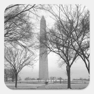 Washington Monument Square Sticker