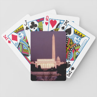 Washington Monument, the Capitol and Jefferson Bicycle Playing Cards