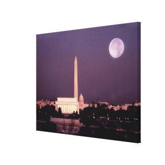 Washington Monument, the Capitol and Jefferson Canvas Print