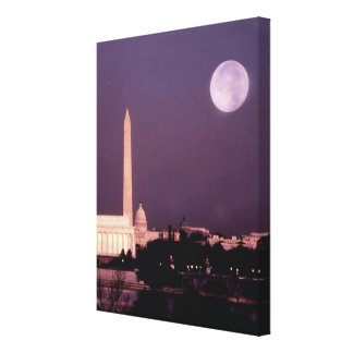 Washington Monument, the Capitol and Jefferson Canvas Print