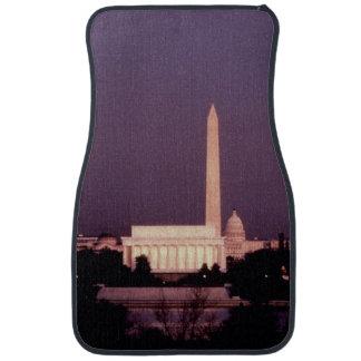 Washington Monument, the Capitol and Jefferson Car Floor Mat