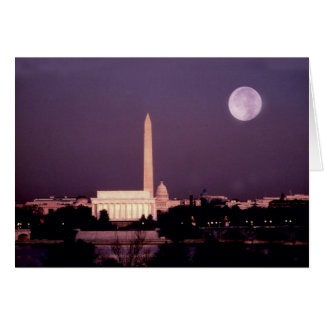 Washington Monument, the Capitol and Jefferson Card