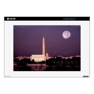 Washington Monument, the Capitol and Jefferson Decal For Laptop