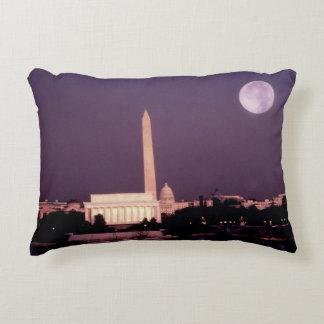 Washington Monument, the Capitol and Jefferson Decorative Pillow