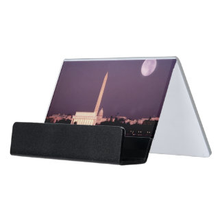 Washington Monument, the Capitol and Jefferson Desk Business Card Holder