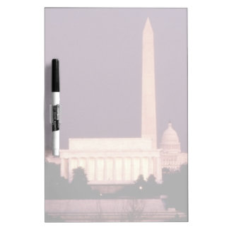 Washington Monument, the Capitol and Jefferson Dry Erase Board