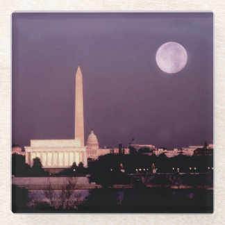 Washington Monument, the Capitol and Jefferson Glass Coaster