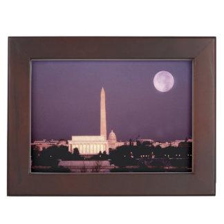 Washington Monument, the Capitol and Jefferson Memory Box