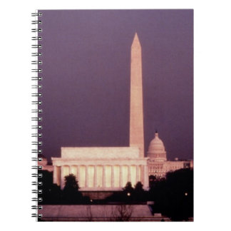 Washington Monument, the Capitol and Jefferson Note Books