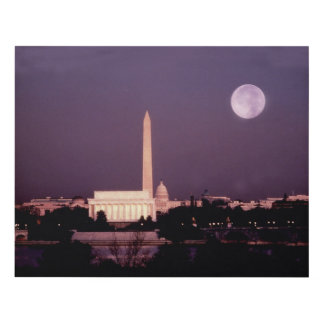 Washington Monument, the Capitol and Jefferson Panel Wall Art