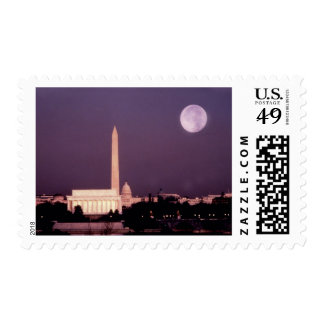 Washington Monument, the Capitol and Jefferson Postage