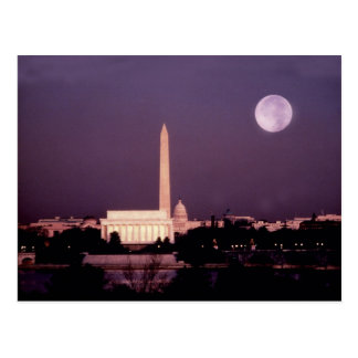 Washington Monument, the Capitol and Jefferson Postcard