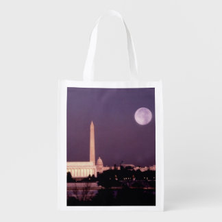 Washington Monument, the Capitol and Jefferson Reusable Grocery Bag
