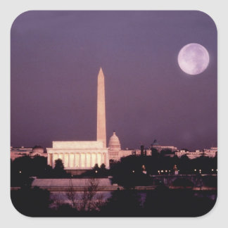 Washington Monument the Capitol and Jefferson Square Stickers