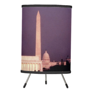 Washington Monument, the Capitol and Jefferson Tripod Lamp