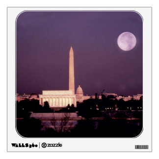 Washington Monument, the Capitol and Jefferson Wall Decal