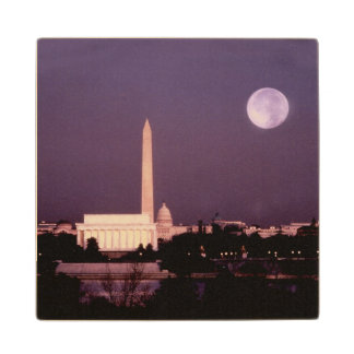 Washington Monument, the Capitol and Jefferson Wooden Coaster