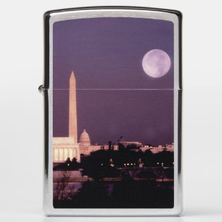Washington Monument, the Capitol and Jefferson Zippo Lighter