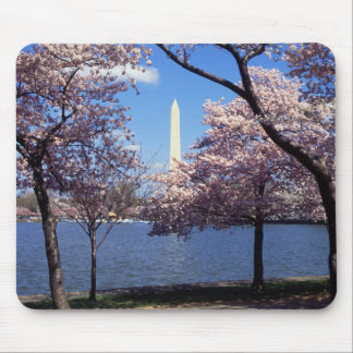 Washington Monument Through Cherry Blossoms Mouse Pad