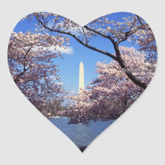 Washington Monument Through Cherry Blossoms Stickers