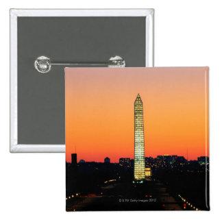Washington Monument Under Restoration at Sunset Button