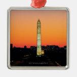 Washington Monument Under Restoration at Sunset Metal Ornament