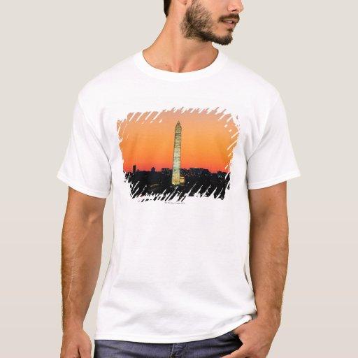 Washington Monument Under Restoration at Sunset T-Shirt
