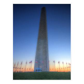 Washington Monument with Orange Sunset Postcard