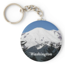Washington Mount Rainier Photo Keychain