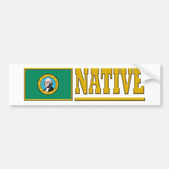 Washington Native Bumper Sticker
