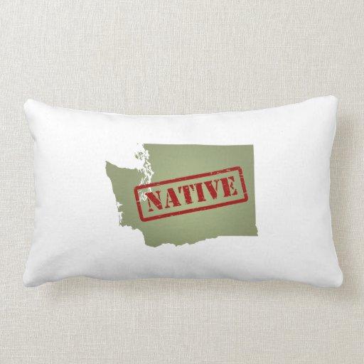 Washington Native with Washington Map Pillows
